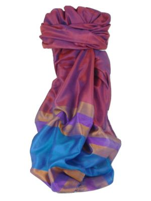 Varanasi Border Prime Silk Long Scarf Heritage Chaudry 805 by Pashmina & Silk