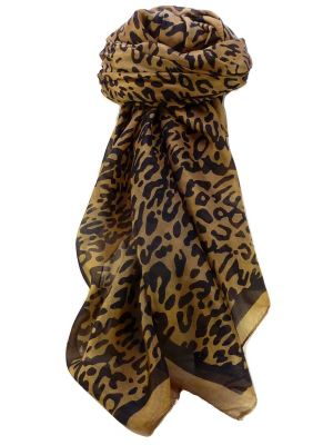 Mulberry Silk Contemporary Square Scarf Mora Brown by Pashmina & Silk