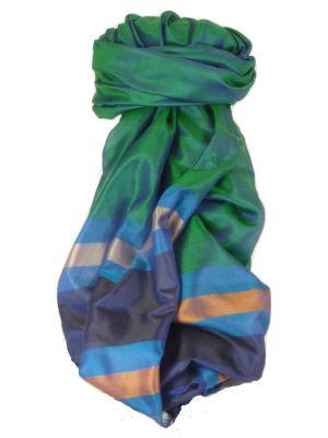 Varanasi Border Prime Silk Long Scarf Heritage Chaudry 809 by Pashmina & Silk