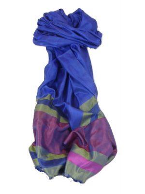 Varanasi Border Prime Silk Long Scarf Heritage Chaudry 810 by Pashmina & Silk