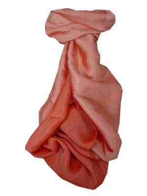 Vietnamese Cham-Pa Reversible Long Silk Scarf Salmon by Pashmina & Silk