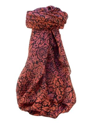 Mulberry Silk Contemporary Square Scarf Quila Rose by Pashmina & Silk