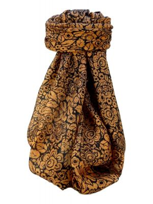 Mulberry Silk Contemporary Square Scarf Quila Amber by Pashmina & Silk