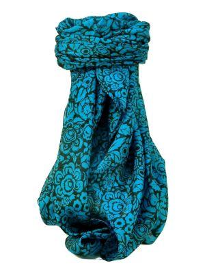 Mulberry Silk Contemporary Square Scarf Quila Aqua by Pashmina & Silk