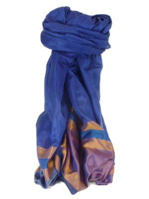 Varanasi Border Prime Silk Long Scarf Heritage Chaudry 812 by Pashmina & Silk