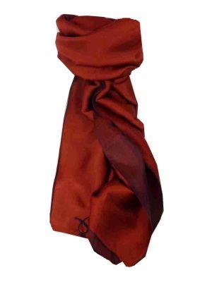 Vietnamese Cham-Pa Reversible Long Silk Scarf Umber by Pashmina & Silk