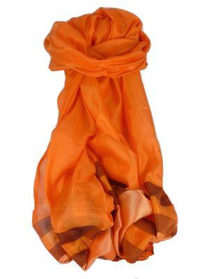 Varanasi Border Prime Silk Long Scarf Heritage Ganguly 900 by Pashmina & Silk