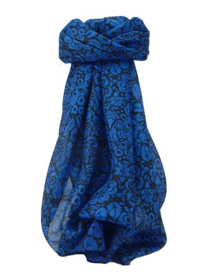 Mulberry Silk Contemporary Square Scarf Quila Sapphire by Pashmina & Silk