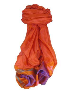 Varanasi Border Prime Silk Long Scarf Heritage Ganguly 902 by Pashmina & Silk