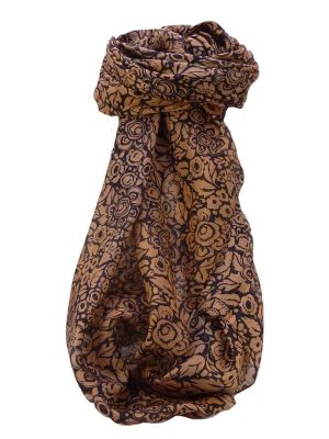 Mulberry Silk Contemporary Square Scarf Quila Blush by Pashmina & Silk