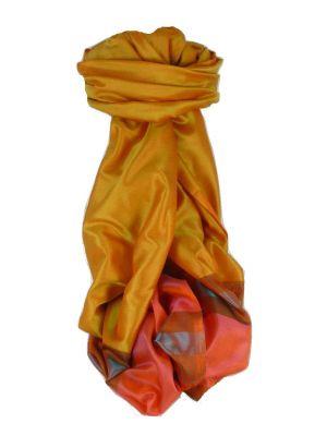Varanasi Border Prime Silk Long Scarf Heritage Ganguly 904 by Pashmina & Silk