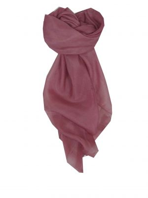 Mulberry Silk Hand Dyed Square Scarf Rose from Pashmina & Silk