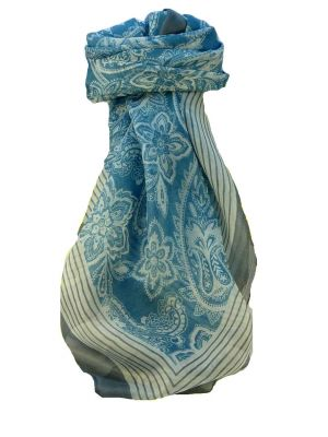 Mulberry Silk Contemporary Square Scarf Kangri Charcoal by Pashmina & Silk
