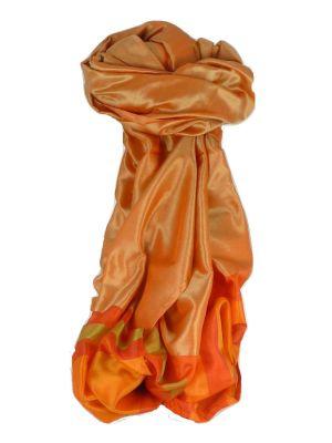 Varanasi Border Prime Silk Long Scarf Heritage Ganguly 905 by Pashmina & Silk