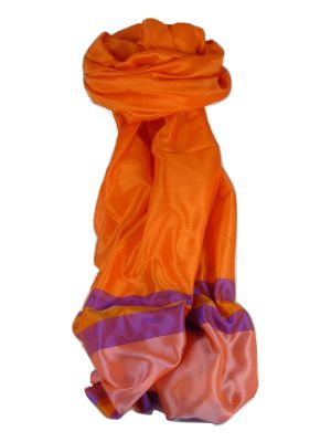 Varanasi Border Prime Silk Long Scarf Heritage Ganguly 906 by Pashmina & Silk