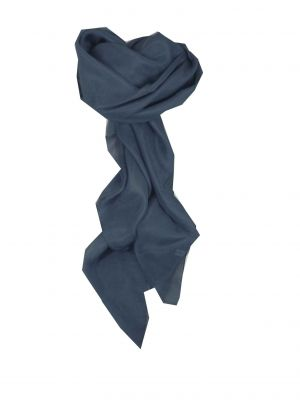 Mulberry Silk Hand Dyed Square Scarf Midnight from Pashmina & Silk