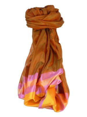 Varanasi Border Prime Silk Long Scarf Heritage Ganguly 908 by Pashmina & Silk