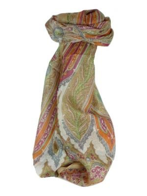 Mulberry Silk Traditional Long Scarf Johal Blush by Pashmina & Silk