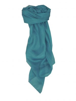 Mulberry Silk Hand Dyed Square Scarf Ocean from Pashmina & Silk