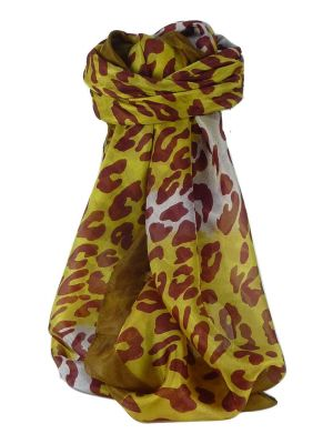 Mulberry Silk Contemporary Square Scarf Garthi Gold by Pashmina & Silk