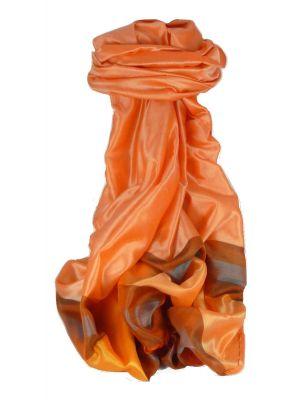 Varanasi Border Prime Silk Long Scarf Heritage Ganguly 911 by Pashmina & Silk