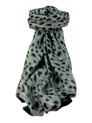 Mulberry Silk Contemporary Square Scarf Tiracol Charcoal by Pashmina & Silk