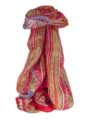 Mulberry Silk Traditional Long Scarf Johal Rose by Pashmina & Silk