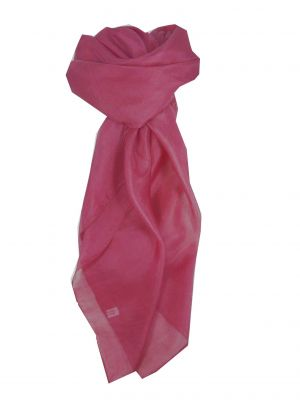 Mulberry Silk Hand Dyed Square Scarf Carnation from Pashmina & Silk