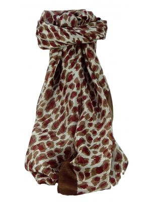Mulberry Silk Contemporary Square Scarf Tiracol Chestnut by Pashmina & Silk