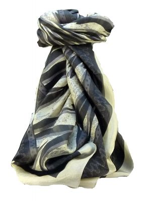 Mulberry Silk Contemporary Square Scarf Ita Black by Pashmina & Silk