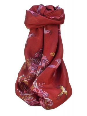 Mulberry Silk Contemporary Square Scarf Siri Red by Pashmina & Silk