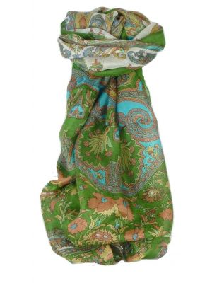 Mulberry Silk Traditional Long Scarf Dhar Sage by Pashmina & Silk
