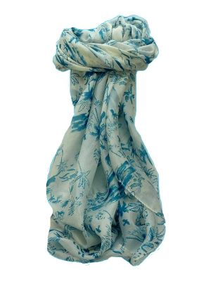 Mulberry Silk Contemporary Square Scarf Kittur Blue by Pashmina & Silk