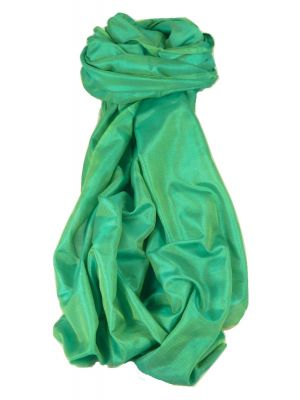 Varanasi Silk Long Scarf Heritage Range Sahni 3 Teal by Pashmina & Silk