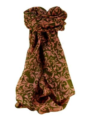 Mulberry Silk Contemporary Square Scarf Akola Coral by Pashmina & Silk
