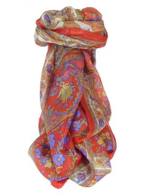 Mulberry Silk Traditional Long Scarf Dhar Flame by Pashmina & Silk