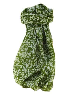 Mulberry Silk Contemporary Square Scarf Akola Sage by Pashmina & Silk