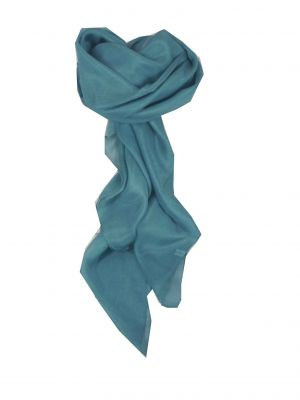 Mulberry Silk Hand Dyed Square Scarf Forget Me Not from Pashmina & Silk