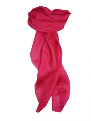 Mulberry Silk Hand Dyed Square Scarf Fuchsia from Pashmina & Silk