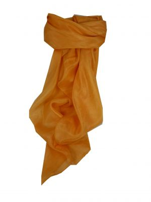 Mulberry Silk Hand Dyed Square Scarf Gold from Pashmina & Silk