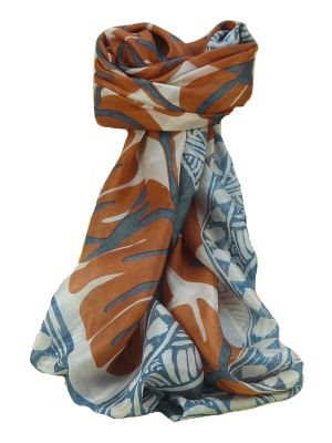 Mulberry Silk Contemporary Square Scarf Damodar Grey by Pashmina & Silk