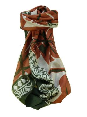 Mulberry Silk Contemporary Square Scarf Damodar Sage by Pashmina & Silk