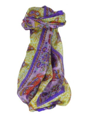 Mulberry Silk Traditional Long Scarf Vish Violet by Pashmina & Silk
