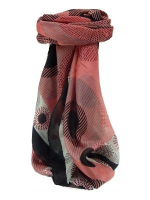 Mulberry Silk Contemporary Square Scarf Pamba Pink by Pashmina & Silk