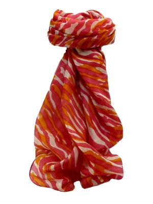 Mulberry Silk Contemporary Square Scarf Atran Coral by Pashmina & Silk