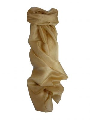 Mulberry Silk Hand Dyed Long Scarf Latte from Pashmina & Silk