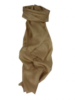 Mulberry Silk Hand Dyed Long Scarf Mocha from Pashmina & Silk