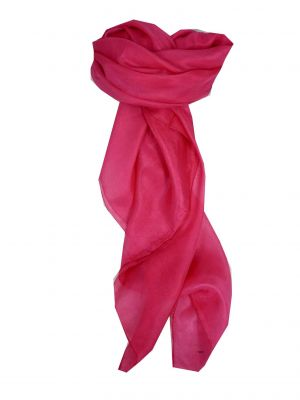 Mulberry Silk Hand Dyed Long Scarf Pink from Pashmina & Silk