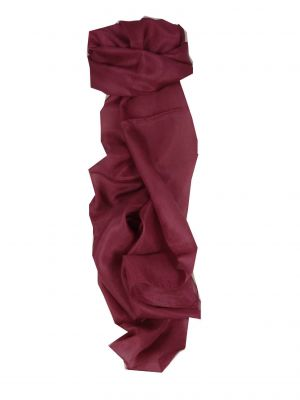 Mulberry Silk Hand Dyed Long Scarf Plum from Pashmina & Silk