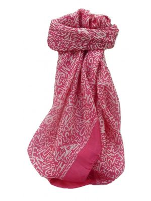 Mulberry Silk Contemporary Square Scarf Mila Pink by Pashmina & Silk